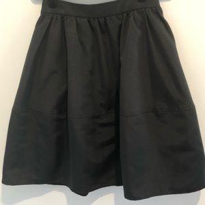 Express black circle skirt